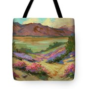 Desert Verbena At Borrego Springs Tote Bag
