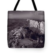 Desert View At Grand Canyon Arizona Bw Tote Bag