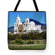 Desert View - San Xavier Mission - Tucson Arizona Tote Bag