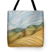 Desert Waves Tote Bag