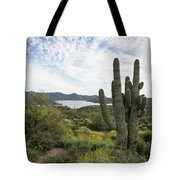 Desert Wildflower View Tote Bag