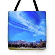 Desert Winter Sky Tote Bag