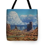 Rainstorm Over Monument Valley Tote Bag