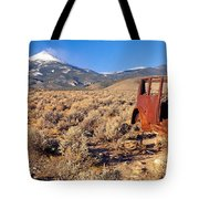 Deserted Car With Cow Skeleton, Great Tote Bag