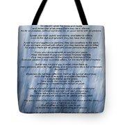 Desiderata - Blue Tote Bag
