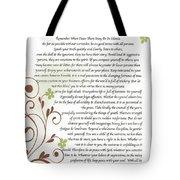 Desiderata Daisy Vines Tote Bag