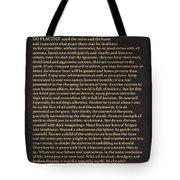 Desiderata Signature Collection Tote Bag