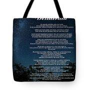 Desiderata - The Milky Way  Tote Bag