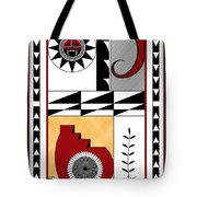Southwest Collection - Design Five In Red Tote Bag