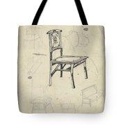 Design For A Chair, Carel Adolph Lion Cachet, 1874 - 1945 Tote Bag