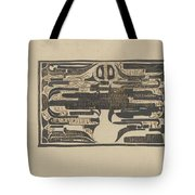 Design For A Charter On The Occasion Of Twelve-and-a-half-year Service, Carel Adolph Lion Cachet, 18 Tote Bag