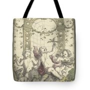 Design For A Gazebo Of Green Trellis, In Which Three Putti Play With Animals, Daniel Marot II, 170 Tote Bag