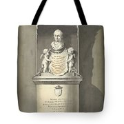Design For A Monument To C. Brunings A Bust In A Niche, Bartholomeus Ziesenis, 1806 Tote Bag
