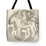 Design For A Plate With A Canadian Mountie, Carel Adolph Lion Cachet, 1874 - 1945 Tote Bag