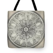 Design For An Inlaid Circular Table Top, With Alternatives Tote Bag