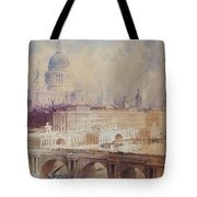 Design For The Thames Embankment, View Looking Downstream Tote Bag