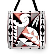 Southwest Collection - Design Four In Red Tote Bag