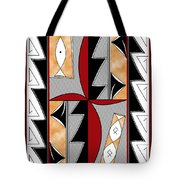 Southwest Collection - Design One In Red Tote Bag