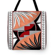 Southwest Collection - Design Three In Red Tote Bag