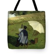 Desire Dubois Painting In The Open Air Tote Bag by Henri Joseph Constant Dutilleux