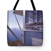 Desolation Peak Fire Lookout Cabin Sign Tote Bag