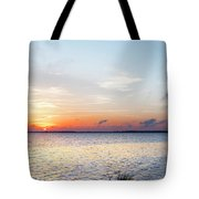 Destin Sunset Over The Bay Tote Bag