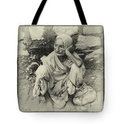 Destitute On The Ganges Tote Bag