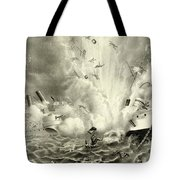 Destruction Of The Us Battleship Maine, 15th February, 1898 Tote Bag