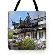 Detail Chinese Garden With Rocks. Tote Bag