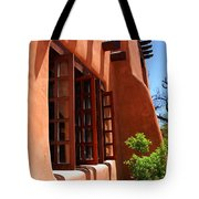Detail Of A Pueblo Style Architecture In Santa Fe Tote Bag