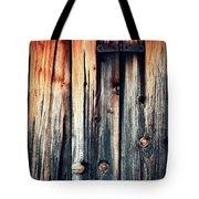 Detail Of An Old Wooden Door Tote Bag