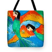 Detail Of Bird People Little Green Bee Eaters Of Upper Egypt 2 Tote Bag
