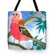 Detail Of Bird People The Chaffinch Family Father Tote Bag