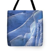 Detail Of Blue Ice On Exit Glaicer Tote Bag
