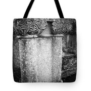 Detail Of Capital Of Cloister At Cong Abbey Cong Ireland Tote Bag