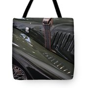 Detail Of Classical Green Vintage Car Hood. Tote Bag