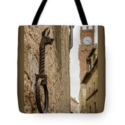 Detail Of Iron On A Wall Of Pienza, Tuscany, Italy Tote Bag