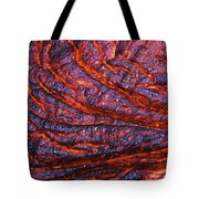 Detail Of Molten Lava Tote Bag
