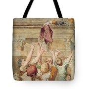 Detail Of Saint Cecilia Distributing Alms Tote Bag