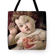 Detail Of The Christ Child From The Madonna Of The Pomegranate  Tote Bag