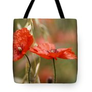 Detail Of The Corn Poppy Tote Bag