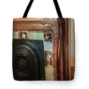 Detail Of Wood Carving And Tiles - Historic Fireplace Tote Bag
