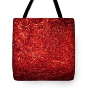 Detail Polished Red Coral Tote Bag