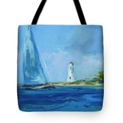 Sailing By The Light Tote Bag