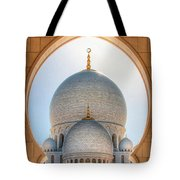 Detail View At Dome Of Sheikh Zayed Grand Mosque, Abu Dhabi, United Arab Emirates Tote Bag