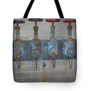 Detailed Four Pipes Tote Bag