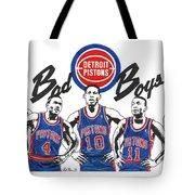 Detroit Bad Boys Pistons Tote Bag