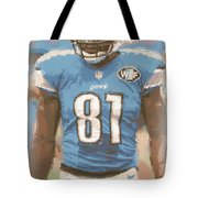 Detroit Lions Calvin Johnson 1 Tote Bag