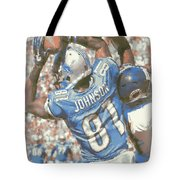 Detroit Lions Calvin Johnson 3 Tote Bag