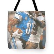 Detroit Lions Calvin Johnson 4 Tote Bag